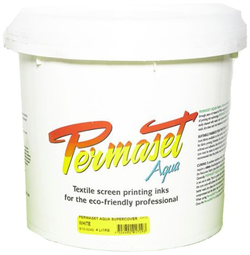 Permaset Aqua Supercover 4 Litre Fabric Printing Ink - White by OfficeMarket