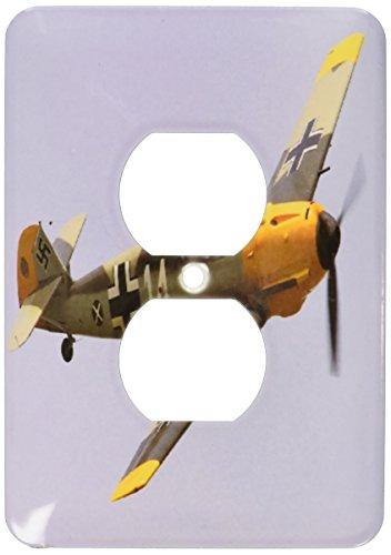 - 3dRose LLC lsp_100333_6 German Ww Ii Messerschmitt Airplane 2 Plug Outlet Cover