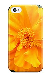 Waterdrop Snap-on Yellow Flowers Case For Iphone 4/4s