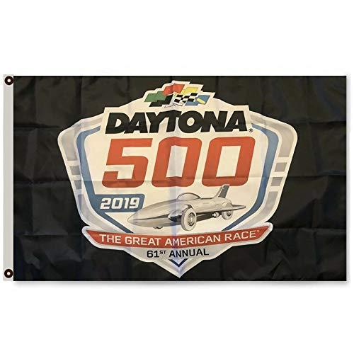 - Mountfly Daytona 500 Feet Black 61st Annual American Race Nascar Racing 2019 Flag Banner 3X5Feet