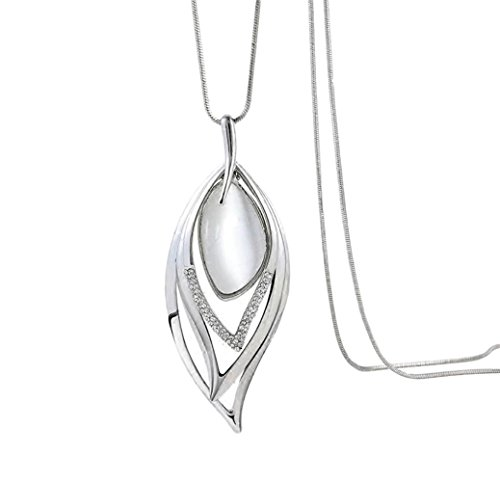 Nataliya Pearl Pendant Long Necklaces (Opal Angel Eye)