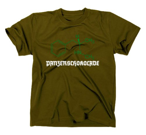 #3 Crystal Meth Panzerschokolade Pervitin T-Shirt, cook, breaking bad, XL, oliv