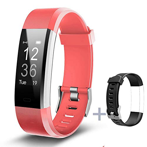 Lintelek Fitness Armband Fitness Tracker wasserdicht Fitness Uhr Aktivity Tracker Schrittzähler Schlaf Monitor Pedometer Kalorie Anrufe/SMS/Whatsapp Vibration