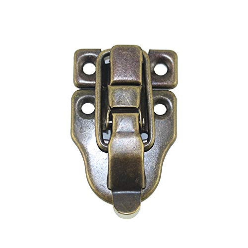 5 Antique Brass Latch - 5 Sets Antique Brass Latch Hasps Decorative Bronze Vintage Locks with Screws for Jewelry Case Wooden Boxes Bronze (Length Width: 2-3/8