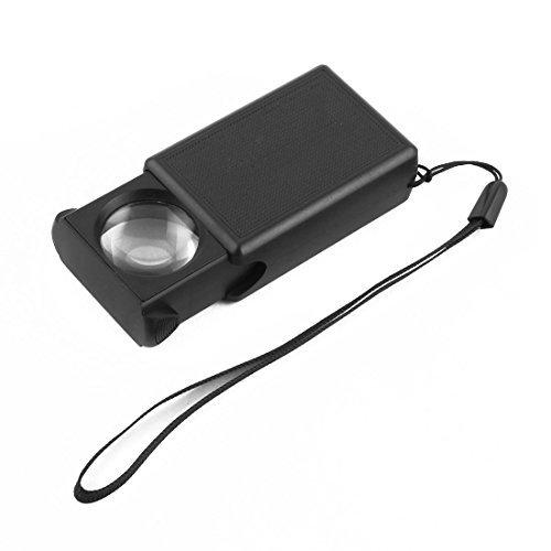 Joyera eDealMax plstico Diamante de lectura elctrica de aumento de luz LED de la lupa de Cristal