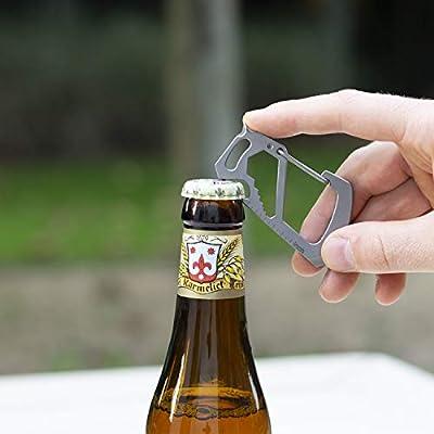 outdoor camping survival pocket tool key ring aluminum beer bottle opener ZP