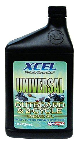 motor oil outborard 2 cycle premium 1 quart 946m xcel universal
