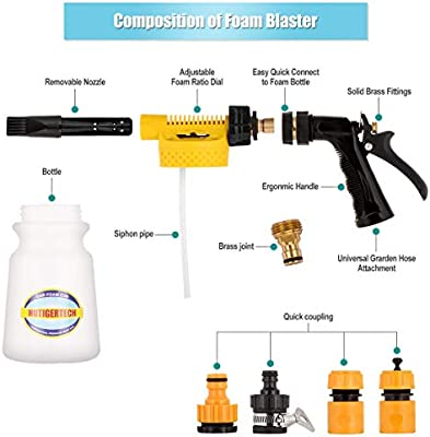 Amazon.com: Hutigertech Car Foam Gun Foam Blaster with The ...