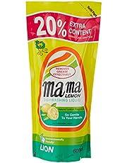 Mama Lemon Dishwashing Liquid Refill, Regular, 600ml (Pack of 3)