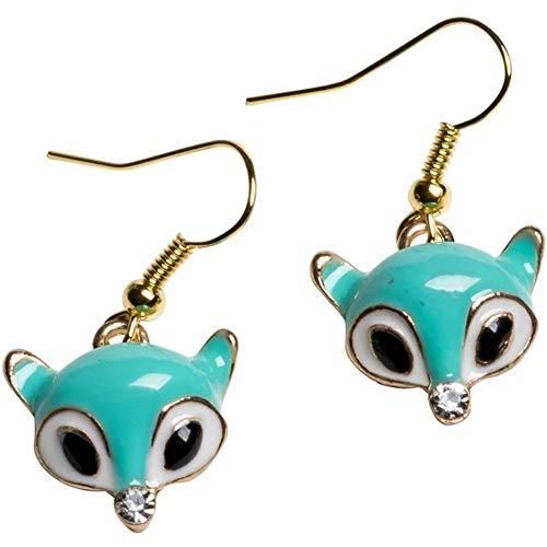 Women's Kitsch N Kouture Little Fox Earrings Mint (Inked Fox)