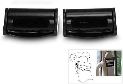 Carchet 2 X Auto Gürtelclip Für Sicherheitsgurte Seat Belt Clip Stopper Set Schwarz Auto