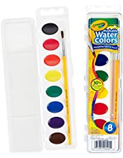 Crayola 530525 Washable Watercolours Paint Set for Kids, Assorted (8 Piece),8 ct,Assorted