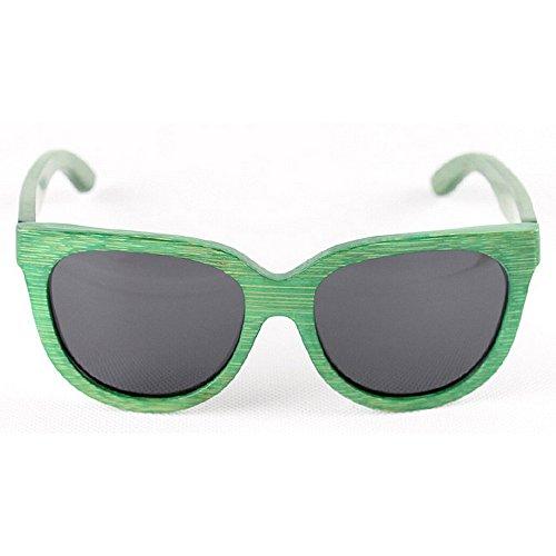 la las hechos Retro retro de de Gafas polarizadas de de mano protección Gafas de bambú ULTRAVIOLETA sol a gato madera los conducen Gafas de de Sunglasses sol Verde hombres Beach sol sol Ojos de que gafas de qqrn4A7