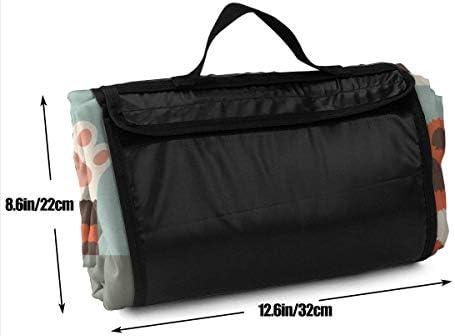 Coperta da Picnic Kawaii Simpatici Gatti Paw Beach Mat Tote Pad Handy Mat 145X150CM