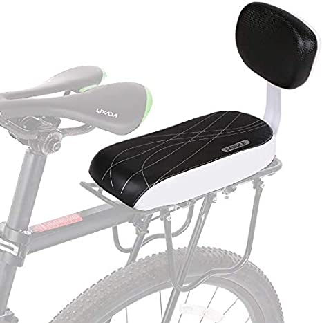 AUVSTAR Asiento Bicicleta Niño,Cojín para Asiento Trasero de Bicicleta,Asiento con Respaldo De Esponja Suave Y Grueso Seguro Cómodo para Niños O Adultos,Accesorios para Bicicleta.: Amazon.es: Deportes y aire libre