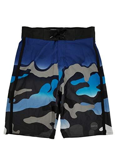 Matix Boys Black & Blue Camo Surf Shorts Swim Trunks Board Shorts XL18/20 ()