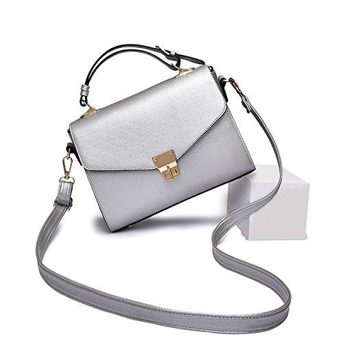 Meoaeo Nueva Moda De Verano Bolsa Crossbody Versión Coreana De La Nueva Portátil Pequeño Paquete De Hombro Gules silvery