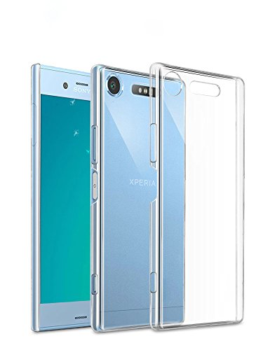 Price comparison product image Sony Xperia XZ1 Compact Case, AVIDET Shock-Absorption Flexible Soft Gel TPU Silicone Case Cover for Sony Xperia XZ1 Compact (Transparent)