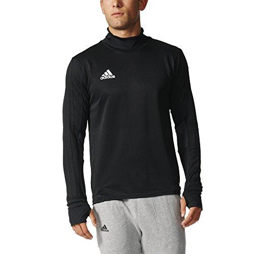 adidas Tiro 17 Training Long-Sleeve Top - Men's Black/Dark Grey/White, L