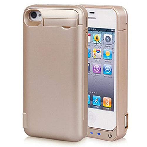 Battery Case for iPhone 5/5S/5C/SE 4800mAh, Gasopic Portable Charger Case Rechargeable Extended Battery Pack Protective Backup Charging Case Cover for iPhone 5/5S/5C/SE