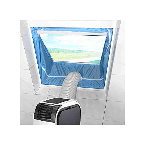 - Airlock Window Sealing For Mobile Air Conditioners And Exhaust Air Dryers 400 cm Universal Window Seal Sealing AC with Zip and Adhesive Fastener (1x sealing baffle & 1x adhesive strip)