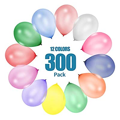 UTC Global 300 Party Balloons 12 Inch 12 Assorted Colors - Bulk Pack of Strong Latex Balloons for Party Decorations, Birthday Parties Supplies or Arch Decor: Toys & Games