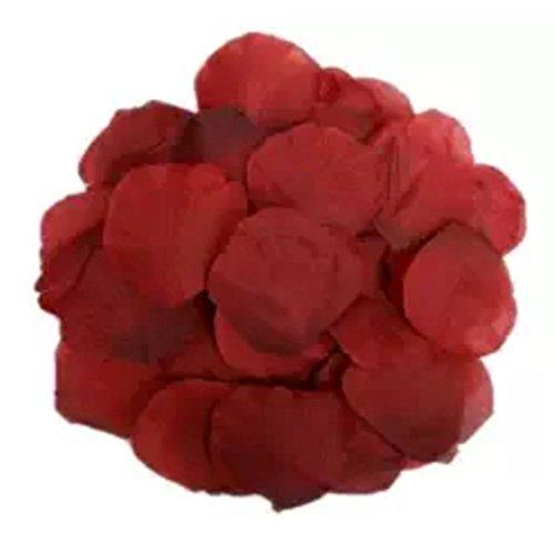 1000Qingsun Rose Petals Artificial Flower Wedding Party Vase Decor Bridal Shower Favor Centerpieces Confetti (Wine red)