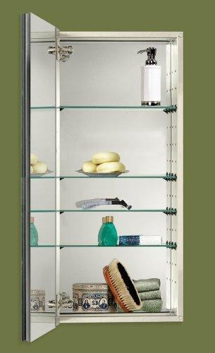 dio IV Series Recessed Beveled Mirror Medicine Cabinet, White (Euro Series Mirror Cabinet)