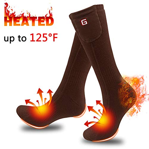 SVPRO Rechargeable Electric Battery Heated Socks,Men Women Powered Heating Socks,Sports Outdoor Indoor Winter Warm Thermal Socks,Hunting Camping Hiking Climbing Foot Warmer