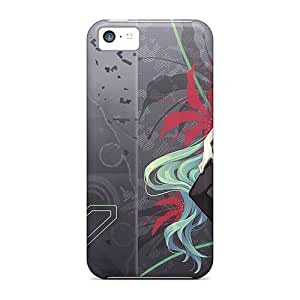 Protective Tpu Case With Fashion Design For Iphone 5c (hatsune Miku World Is Mine)