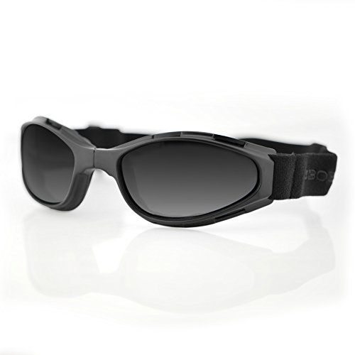 Bobster Crossfire Small Folding Goggles, Black Frame/Smoked Anti-Fog Lens (Motorcycle Bobster Womens Sunglasses)