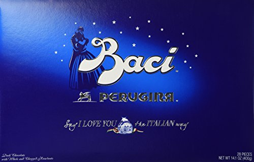 Perugina Baci Classic Dark Chocolate Hazelnut 28-pc Box (Hazelnut Truffles)