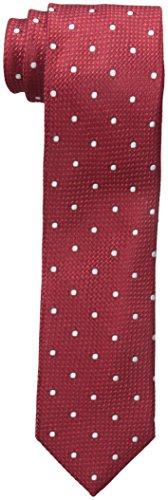 Tommy Hilfiger Men's Grenadine 2 Slim Tie, Red, One Size (Tommy Hilfiger Slim Suit)