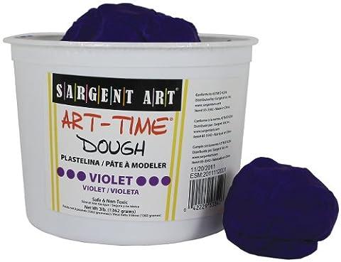 Sargent Art 85-3342 3-Pound Art-Time Dough, Violet (Playdoh People)