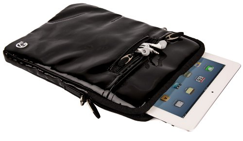 Handbag for 10 Surface inch Hydei Patent Black Tablet 3 Leather Crossbody Microsoft VanGoddy 8 0ntEW1