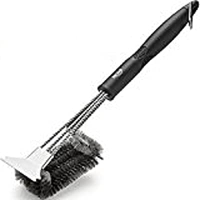 RVZHI Grill Brush with Integrated Cleaning Scraper from RVZHI