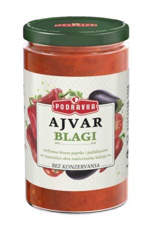 Podravka Ajvar Mild Red Pepper Spread 2.1 lb