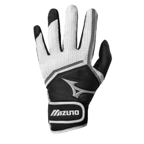 Mizuno Women's 2016 Finch Batting Gloves (Pair), Black/White, - Softball Glove Fastpitch Batting