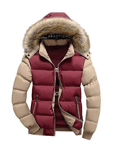 Warm Rot Khaki Manteau Hommes Winter Jacket D BqAwBpFgH