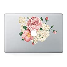 Decalshut Flower macbook decal stickers Vinyl macbook pro/air/retina skin Stickers for apple macbook 11/13/15 inch (Macbook 13 inch, Flower 20)
