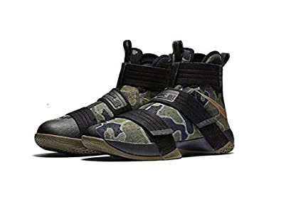 70831514644d ... basketball trainers 844378 sneakers shoes us 8 new zealand nike lebron  soldier 10 x sfg camo mens black medium olive bamboo 844378 eba01 ...