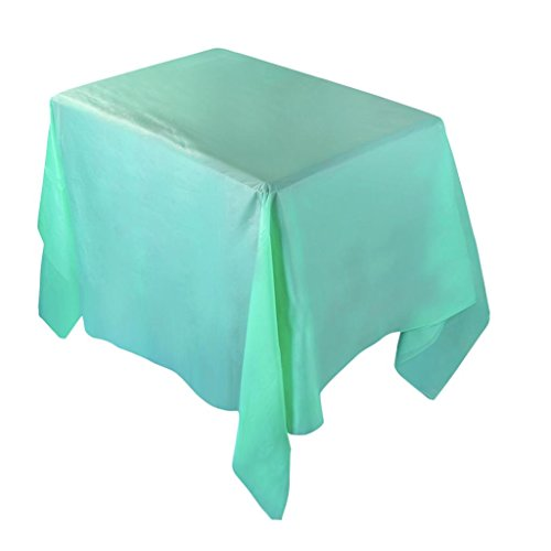 "Solid Color Tablecloths,ZYooh Waterproof Plastic Tablecovers Christmas Home Deco Wedding Restaurant Party 54""X108"" (Mint Green)"