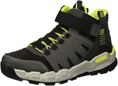 Skechers Kids Boys Adventure Track Sneaker, Charcoal/Black/Lime, 4 Medium US Big Kid