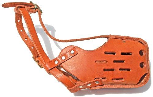 Signature K9 Standard Leather Muzzle, Medium Narrow, Tan by Signature k-9