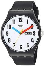 Swatch Reloj Analógico para Hombre de Cuarzo con Correa en Silicona SUOB728