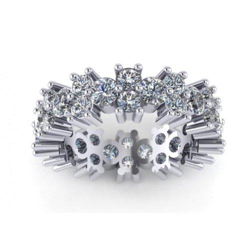 Cut Diamond Eternity Wedding Band Ring in Platinum In Size 9.5 (Platinum Round Diamond Eternity Band)