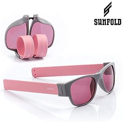 Sunfold Pastel Gafas de Sol Enrollables, Hombre, Gris y Rosa ...