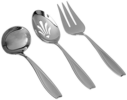 Gorham Tulip Frosted Stainless Flatware 3-Piece Hostess -