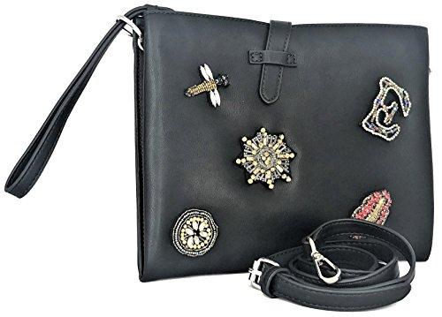 Borsa Borsetta Pochette Nero Donna Ermanno Scervino Bag Flat Crossbody Woman Black Betty