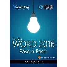 Word 2016 Paso a Paso: Actualización Constante (MOBI + EPUB + PDF)
